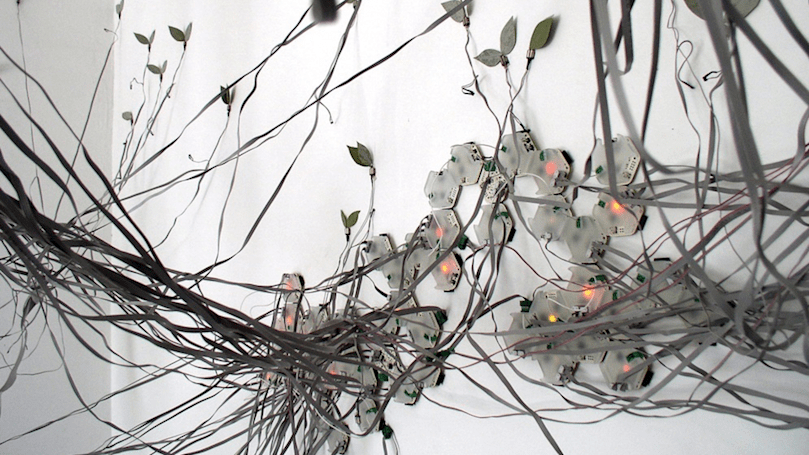 Robotic vines illustrate chaos theory and the Butterfly Effect