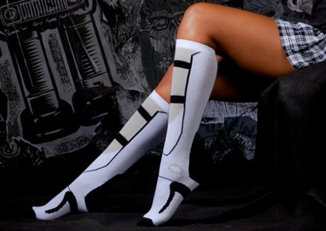 These Portal 2 thigh-high bootie socks will kill you with cuteness