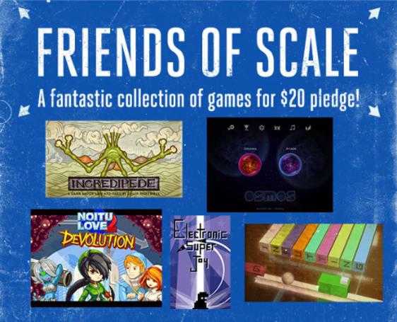 Scale reward tiers just got bigger: $20 gets 5 extra indie games