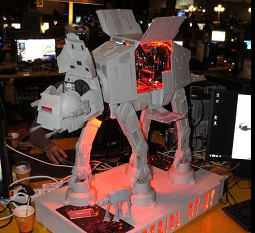 AT-AT PC Case Mod: and you thought it was just geeky on the outside