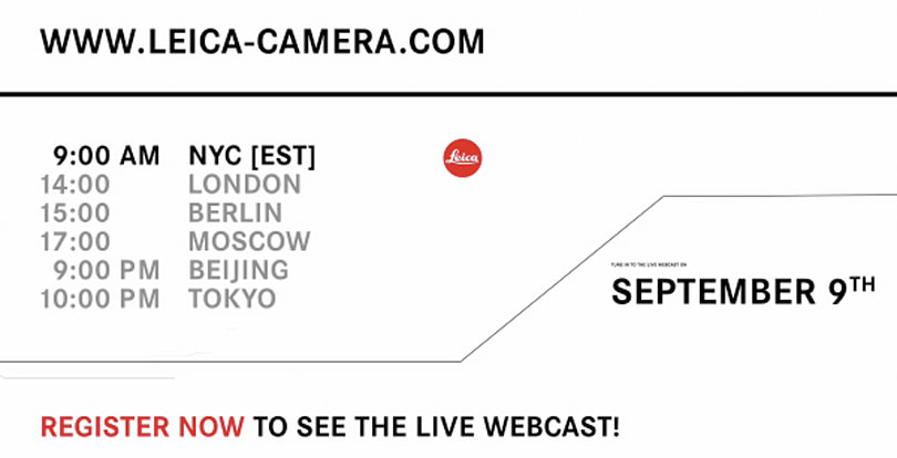 Leica to announce new cameras on September 9th, absolute best day to stand out in the headlines