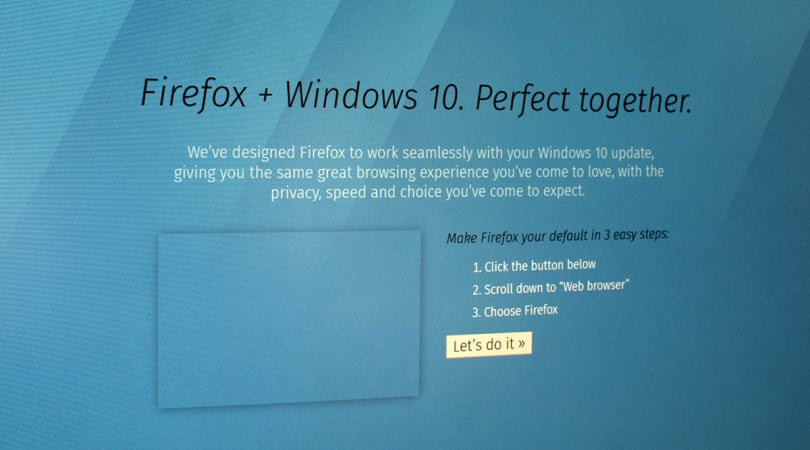 Firefox version 40 set to roll with new Windows 10 features