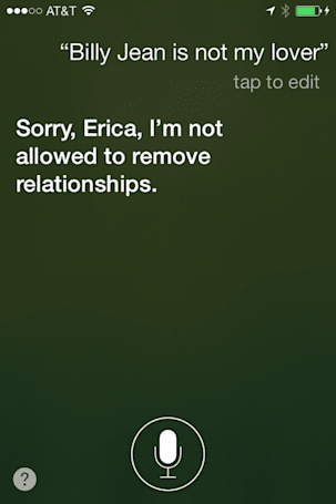 Talking to Siri: The kid is not my son
