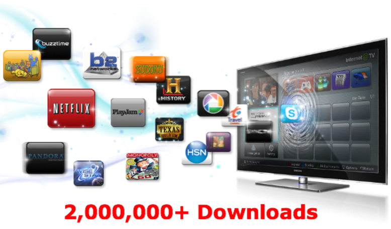 Samsung's HDTV-based app store passes two million downloads