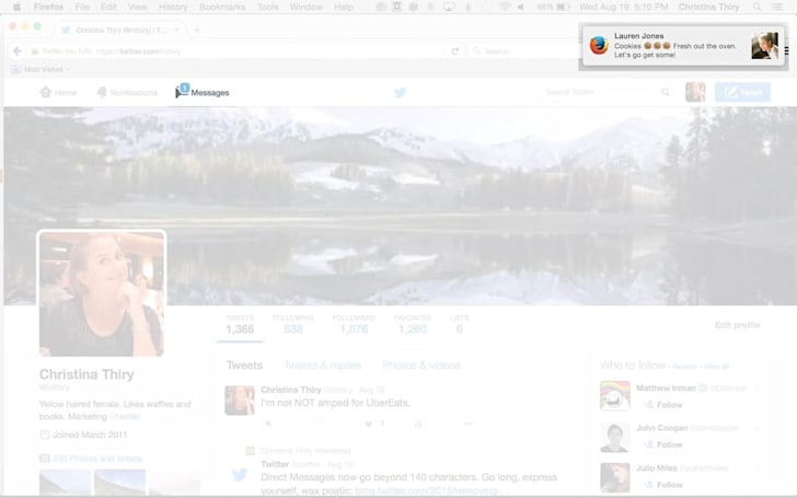 Twitter adds desktop notifications to direct messages on the web