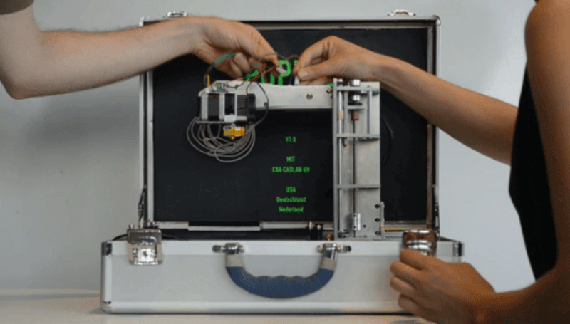 3D printer cuts vinyl, mills, draws, fits comfortably inside a briefcase, is generally fab