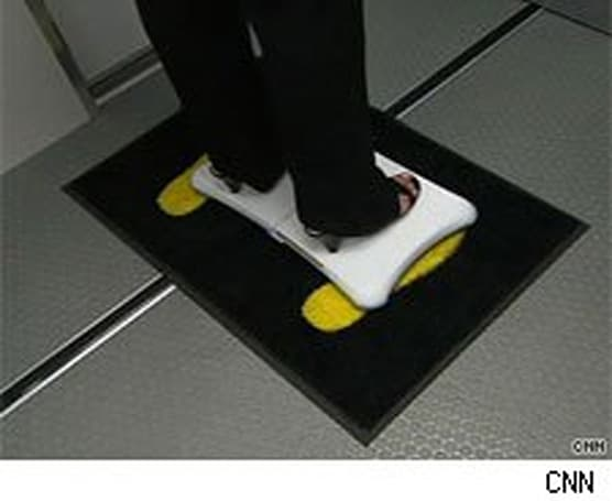 Balance Board used in experimental airport screening study