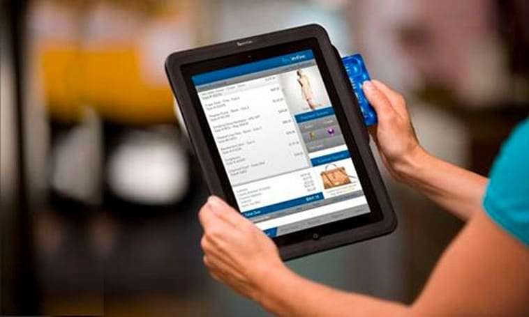 VeriFone's new Payware Mobile Enterprise for Tablets looks a little Square