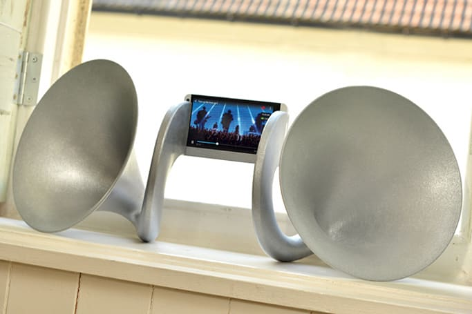 These £999 stereo speaker horns will go nicely with your gold HTC One