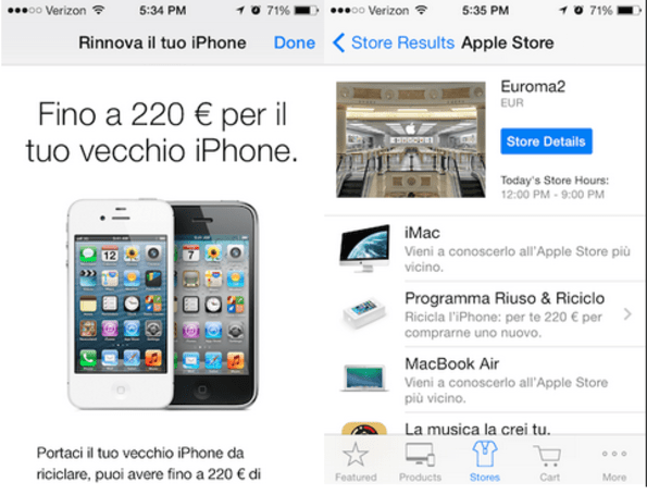Apple brings official iPhone trade-in to Italy