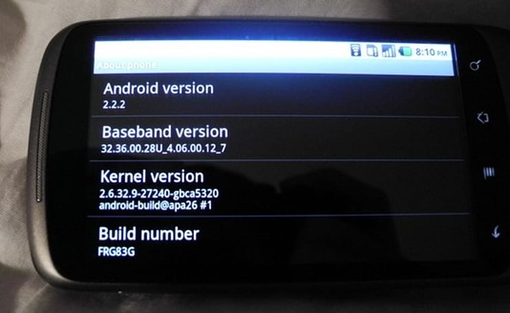 Nexus One gets tiny update to Android 2.2.2, fixes SMS routing issues
