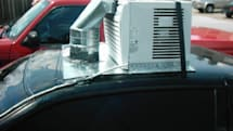 Grad student bolts air-conditioner onto car to beat Texas heat
