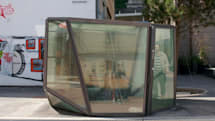 Transparent public restroom not for those with performance anxiety