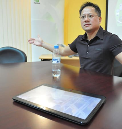 NVIDIA CEO shows off mystery tablet, makes zero statements about mystery tablet