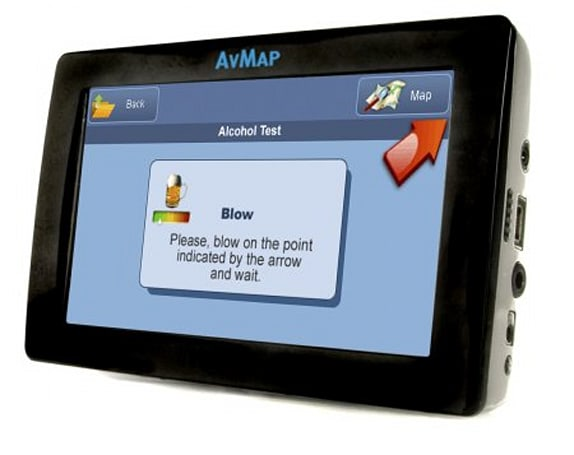 AVMap intros breathalyzer-equipped Geosat 6 Drive Safe navigator