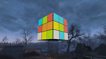 Someone made a giant Rubik's Cube in 'Fallout 4'