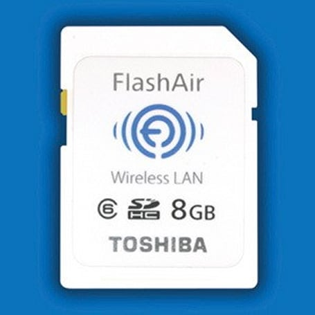 Toshiba FlashAir WiFi SD Card will make your Eye-Fi's water