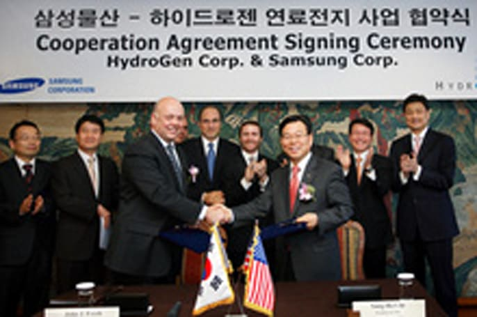 Samsung partners with HydroGen to distribute fuel cell power plants