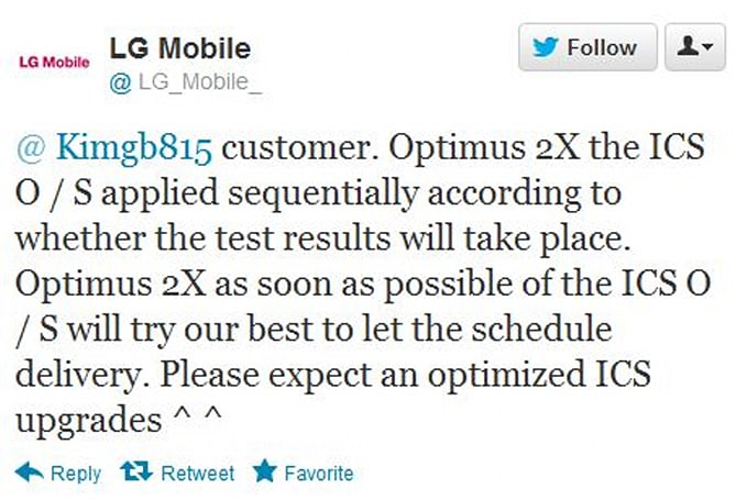 LG confirms Optimus 2X will indeed be updated to ICS... in Korea, at least