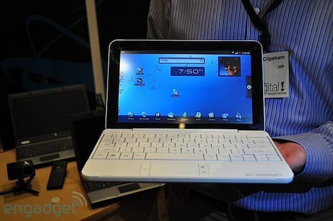 HP Mini Android smartbook hands-on