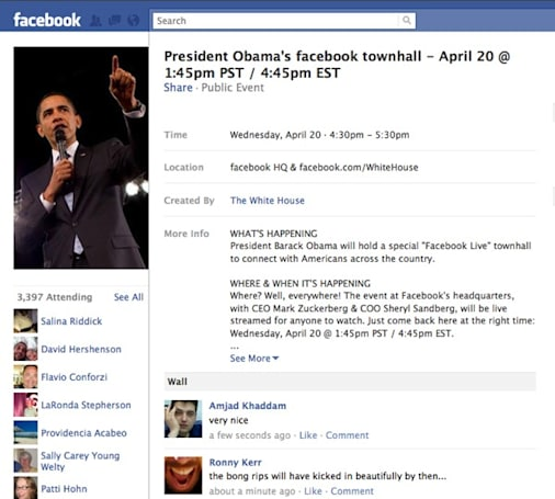 President Obama to appear at Facebook HQ for Town Hall meeting