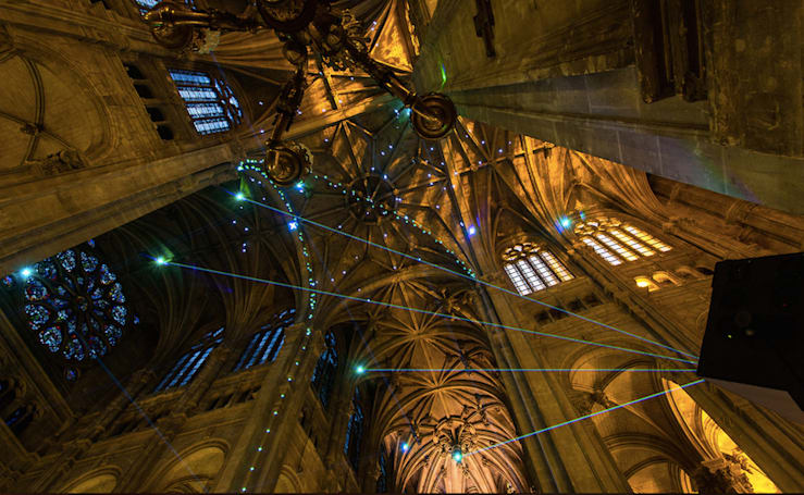 The Big Picture: using a cellphone in this cathedral creates a laser show