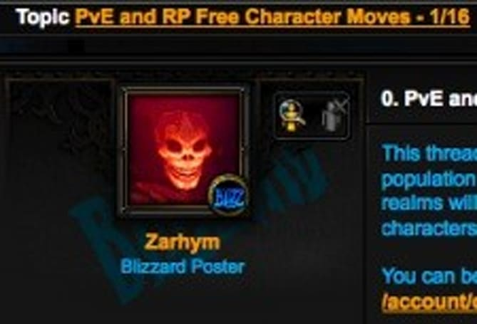 New RP, PvE servers open for transfers