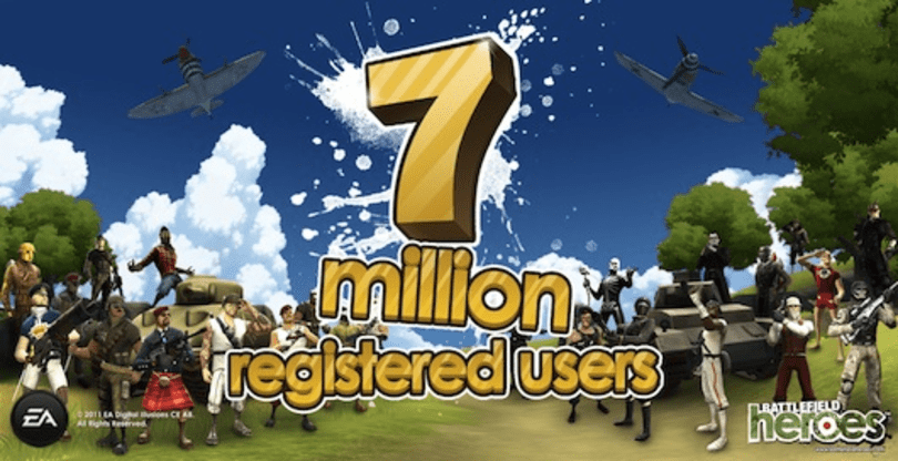 Battlefield Heroes bonuses are brought to you by the letters E, A, and the number 7