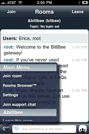 Bitlbee and Rooms: Accessing AIM Chat Rooms from your iPhone