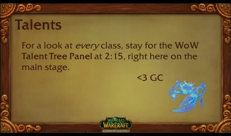 BlizzCon 2011 World of Warcraft Class Talent System liveblog