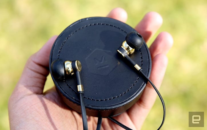 Master & Dynamic's brass earbuds mix style with great sound