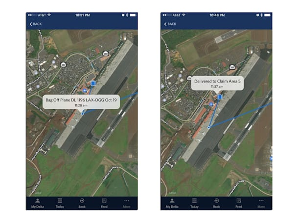 Delta's RFID luggage tracking system now includes a map view
