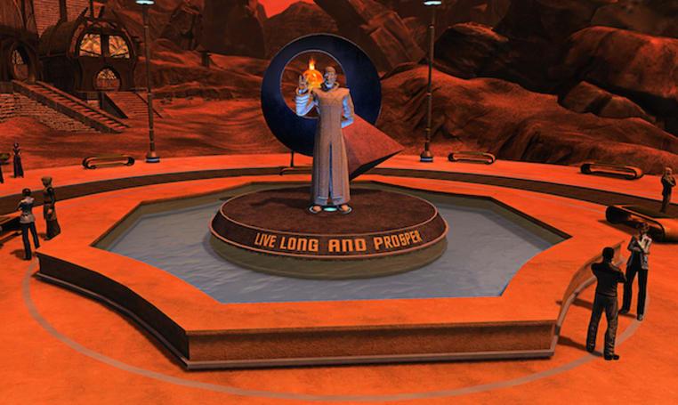 'Star Trek Online' honors Leonard Nimoy with in-game Spock statues