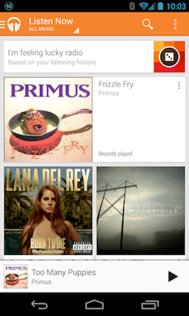 Google rolling out 'I'm feeling lucky radio' to Play Music on Android and the web
