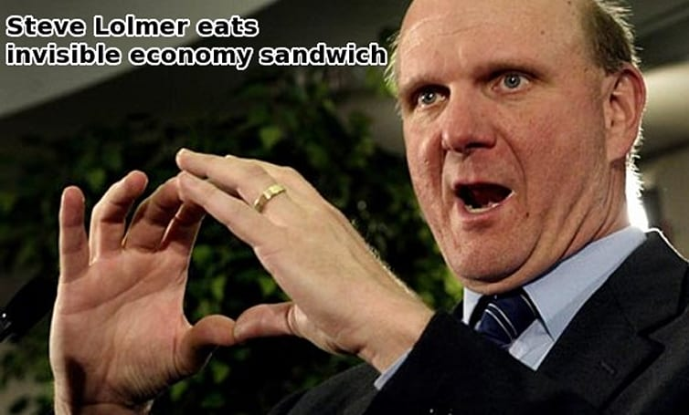 Duh: Economic woes will affect MS revenues, says Ballmer
