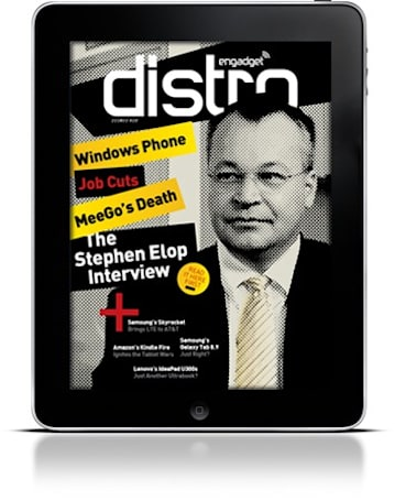 Engadget Distro Issue 13 takes on Stephen Elop, the Kindle Fire and Lenovo's Ultrabook