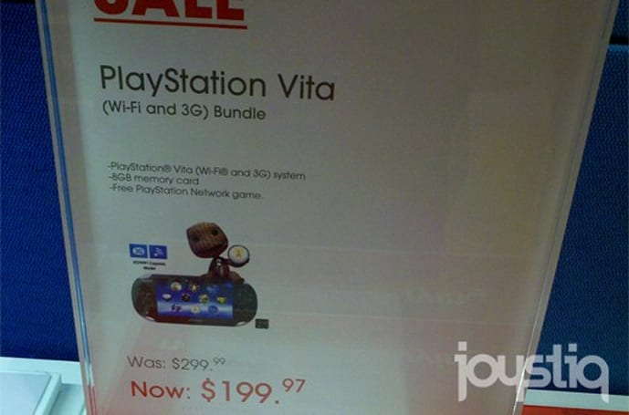 Select Sony stores selling PS Vita 3G for $200