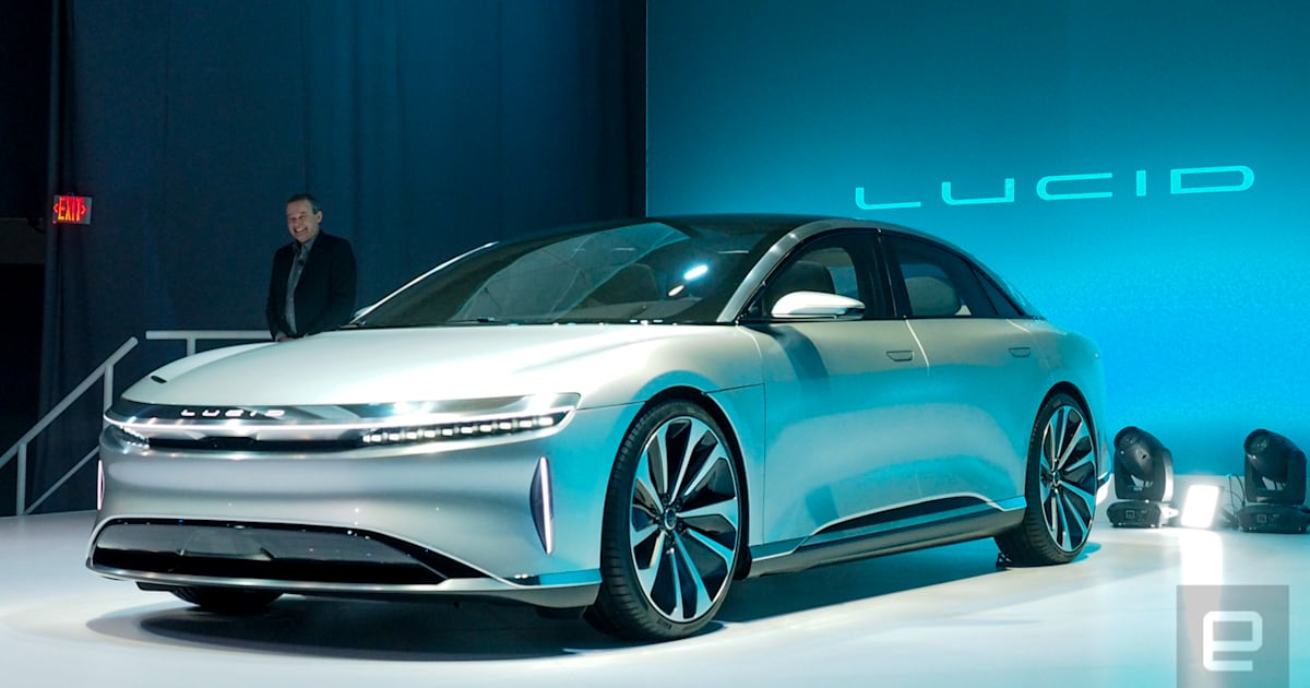 Lucid motors unveils its 400 mile range luxury ev for Luxury motors of bay area