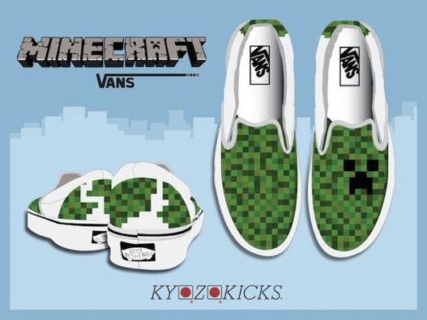 Put creepers on your sneakers with these custom Minecraft Vans