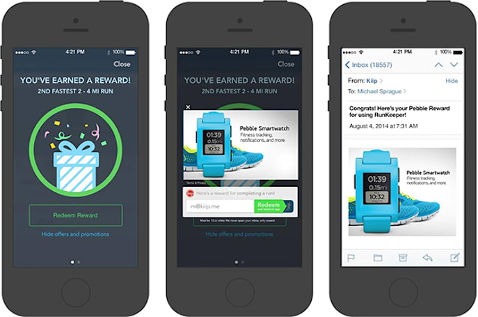 RunKeeper will now bribe you to beat your best