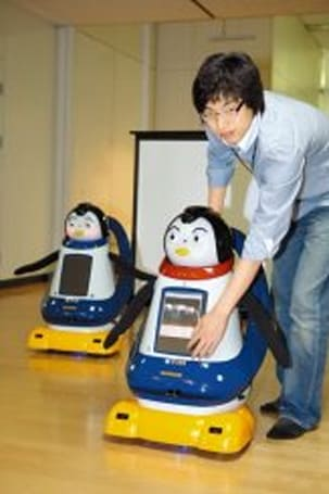 Pomi robot penguin shows its emotions with smells