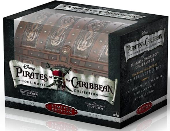 Pirates of the Caribbean Blu-ray combo arrives October 18th in two, five or 15 disc sets