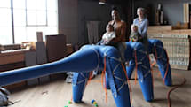 Ant-Roach inflatable robot can carry a family, scare the kids (video)