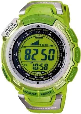 Casio's solar-powered Pathfinder watch plays the green card twice