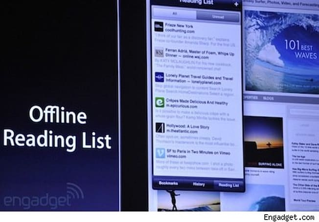 Apple offers a peek into updated Mobile Safari, Photo Stream