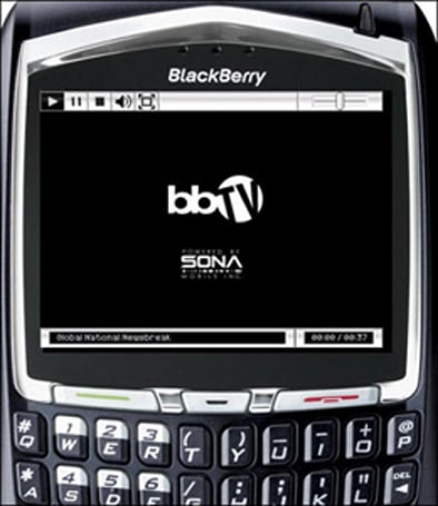"Sona's video player for BlackBerry powers ""bbTV"""