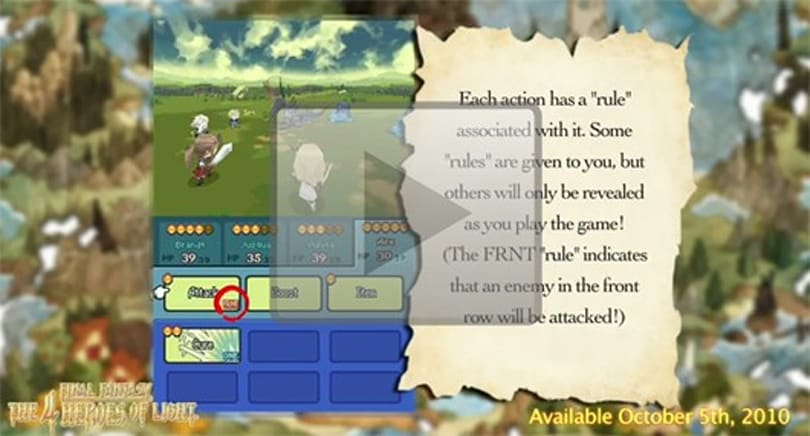 Final Fantasy: The 4 Heroes of Light battle system explained in video