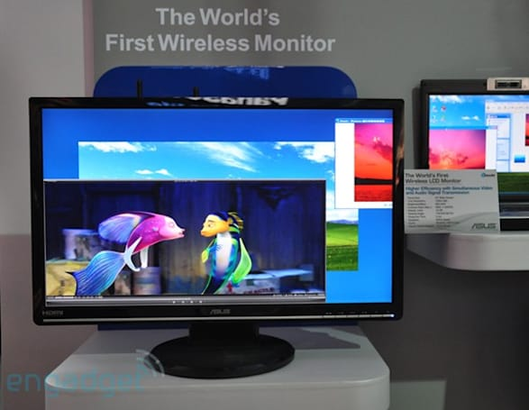"""ASUS shows off Wireless LCD prototype, """"Green"""" monitors"""