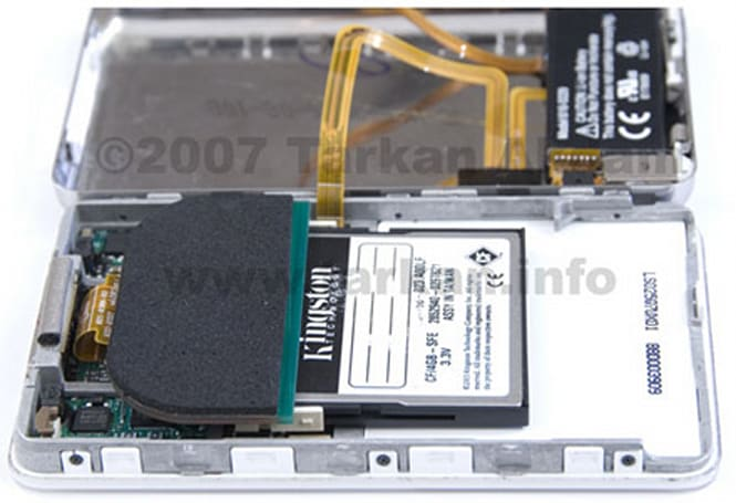 5G iPod mod trades the hard drive for CF storage