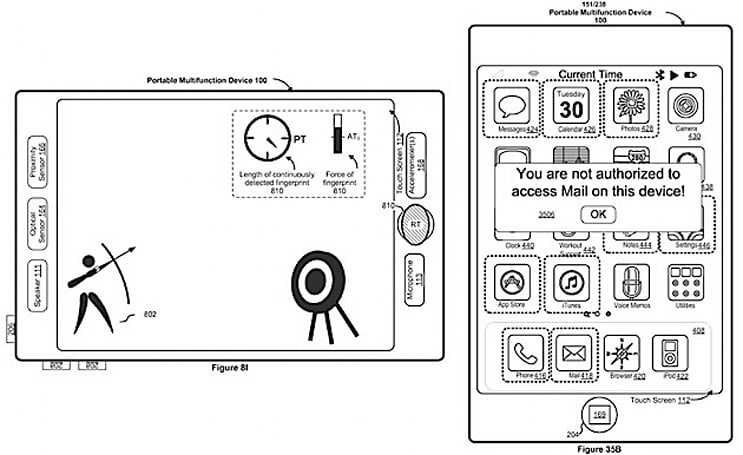 Apple patent filing adds trackpad functions to home button and turns entire display into fingerprint sensor